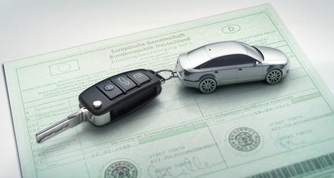 Autoschlüssel auf Kfz-Brief